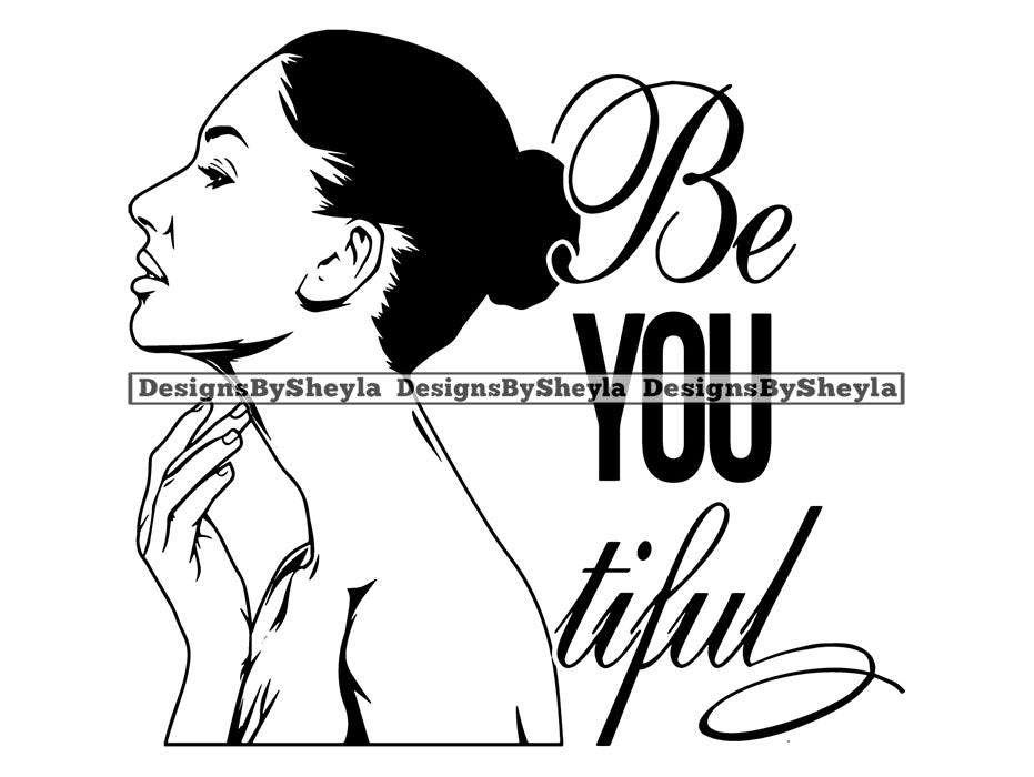 Be You Tiful Woman Clipart Vector