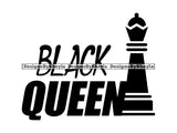 Black Queen Quote Clipart Vector