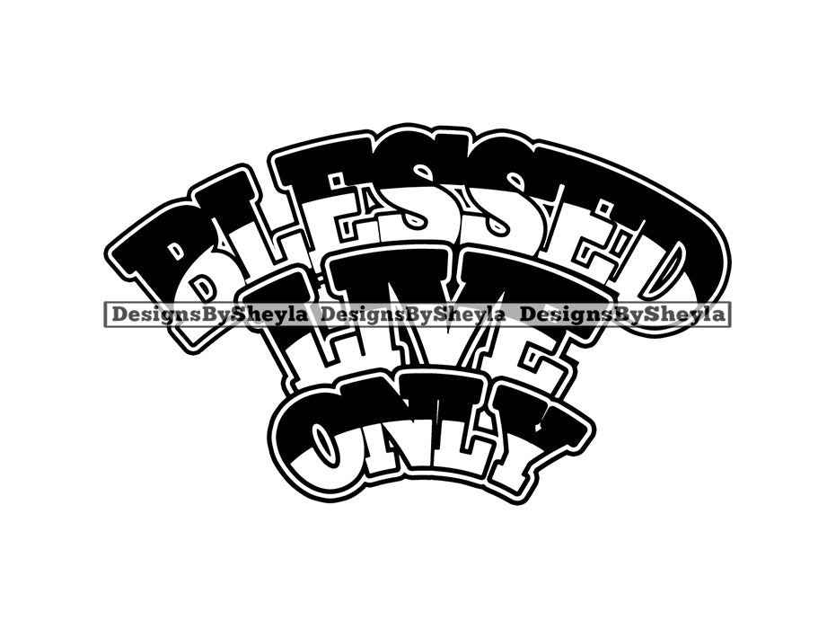 Blessed Quote Clipart Vector