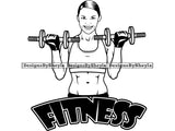 Woman Fitness Clipart Vector