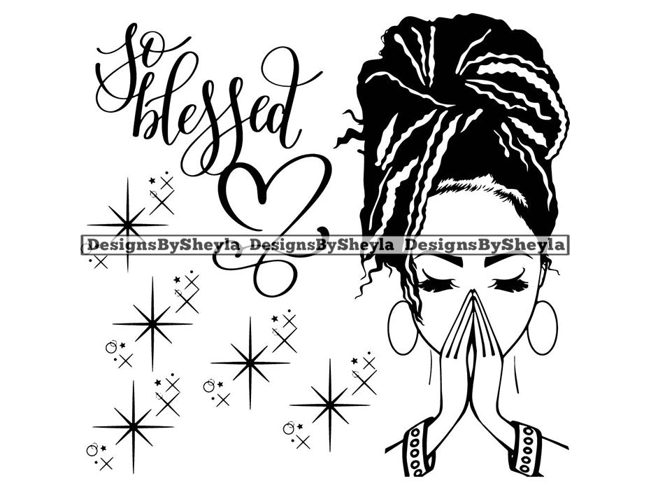 Woman So Blessed Clipart Vector