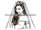 Bride Woman Clipart SVG