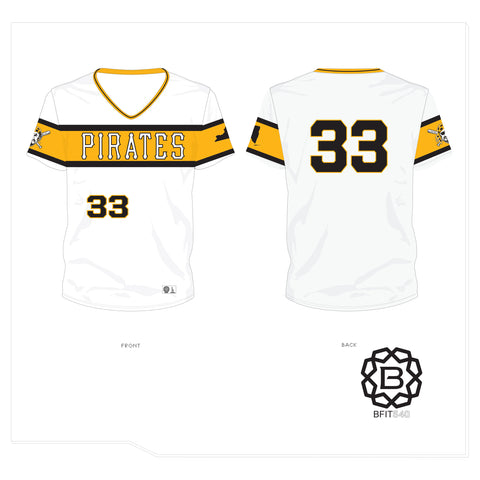PATTERSON PIRATES JERSEY WHITE