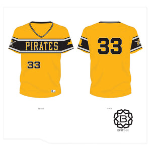 PATTERSON PIRATES JERSEY YELLOW