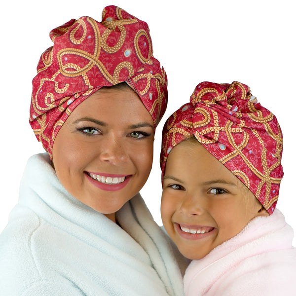 HAIR TOWEL WRAP MADE FROM RECYCLED FIBERS