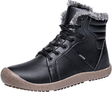 Load image into Gallery viewer, Outdoor Waterproof Ankle Winter Warm Fur Snow Boots for Women Men - Black