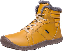 Load image into Gallery viewer, Outdoor Waterproof Ankle Winter Warm Fur Snow Boots for Women Men - Yellow
