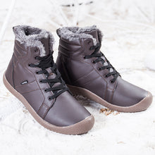 Load image into Gallery viewer, Outdoor Waterproof Ankle Winter Warm Fur Snow Boots for Women Men - Brown