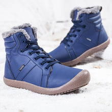 Load image into Gallery viewer, Outdoor Waterproof Ankle Winter Warm Fur Snow Boots for Women Men - Navy