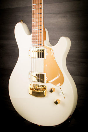 Musicman BFR Valentine Ivory White With Roasted Maple Neck