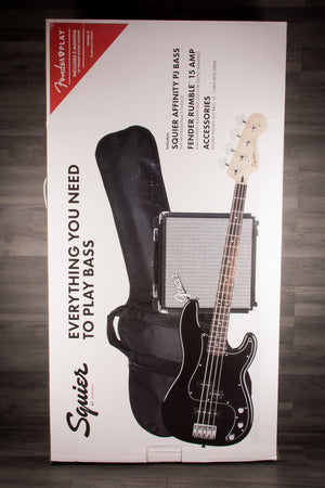 Fender Squier Affinity Bass PJ Pack - Black - MusicStreet
