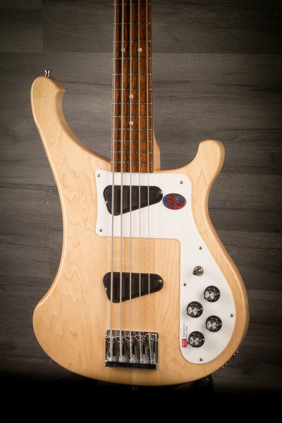 Bass Guitar - Rickenbacker 4003S5 5-String Bass - Mapleglo