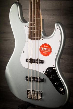 Squier Affinity Jazz Bass LRL - Slick Silver - MusicStreet