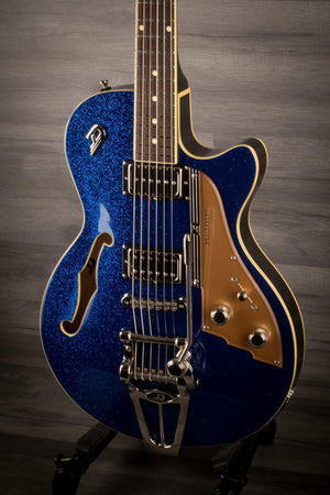 Electric Guitar - Duesenberg Starplayer Tv In Blue Sparkle  With Hard Case