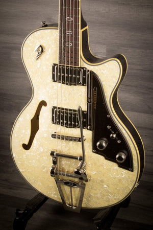 Electric Guitar - Duesenberg Starplayer TV In Creamy Pearloid With Hard Case