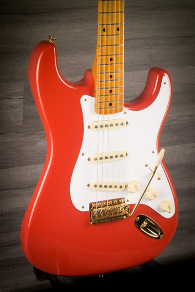 Electric Guitar - Fender FSR '50s Stratocaster Maple Neck Fiesta Red With Gold Hardware