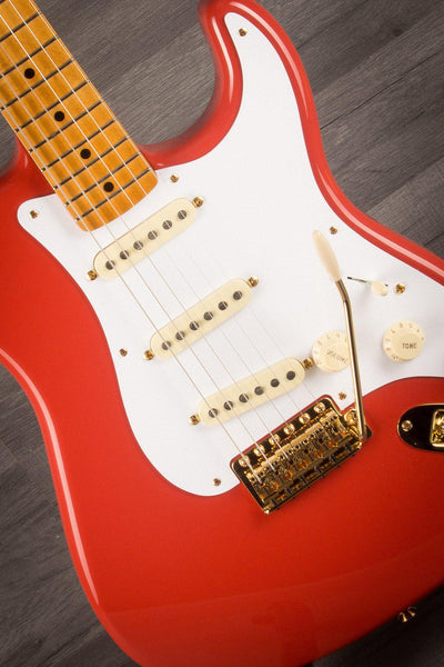 Fender FSR '50s Stratocaster Maple neck Fiesta Red with Gold Hardware - MusicStreet