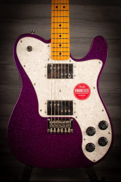 Squier FSR 70's Telecaster Deluxe Purple Sparkle - MusicStreet