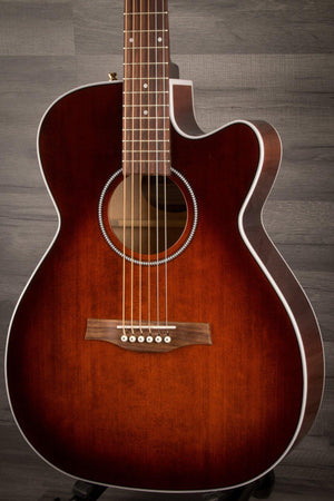 Electro Acoustic Guitar - Seagull Performer CW Concert Q1T Electro Acoustic - Burnt Umber