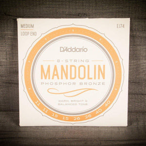 Mandolin Strings - D'Addario EJ74 Phosphor Bronze Mandolin Strings