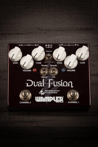 Overdrive - Wampler Pedals Dual Fusion Tom Quayle Signature Series Overdrive Pedal