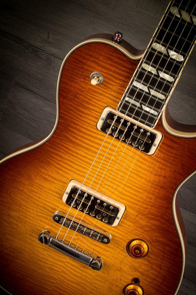 Godin Summit Classic Supreme Limited Cognac Burst Flame Top