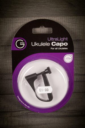 Traditional Instrument Accessories|Capos - G7Th Capo Ultralight Ukulele - Black