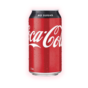 Coca Cola No Sugar 375 mL can