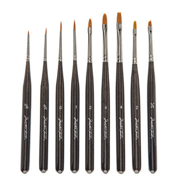9 Piece Micro Tight Spot Detail Paint Brush Set