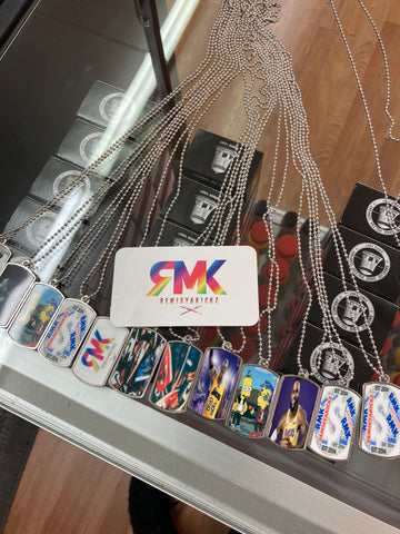 Double Sided RMK Dog Tag Pendants