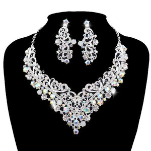 AB V Crystal Necklace Set