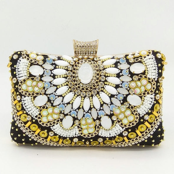 Boutique Beaded Evening Clutch Bag