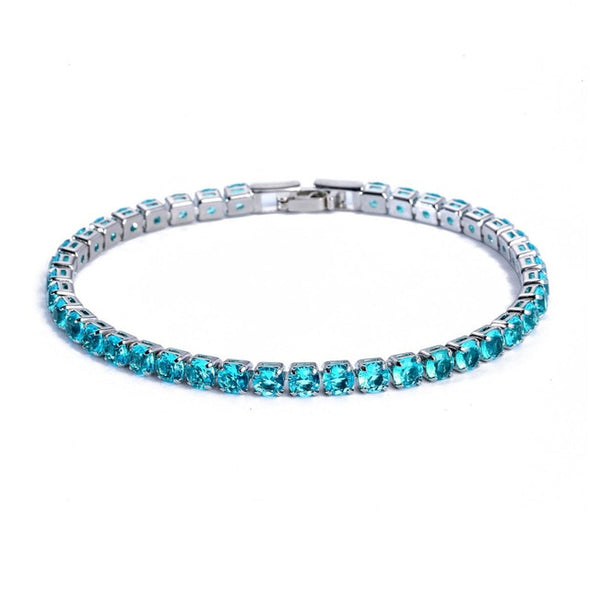 Luxury 4mm Crystal Rhinestone Bracelet - 20 Colors