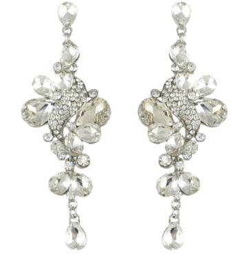 Elegant Drop Crystal Earrings (4 Colors)