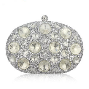 Rhinestone Crystal Formal Clutch Bag - 5 Colors