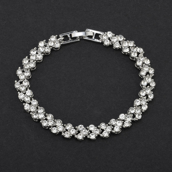 Crystal Rhinesone Tennis Bracelets - Silver or Rose Gold