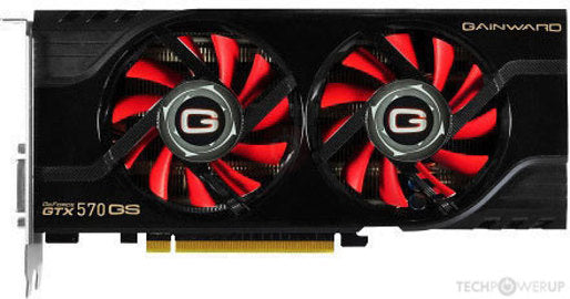 Gainward GeForce GTX 570 1280MB PhysX