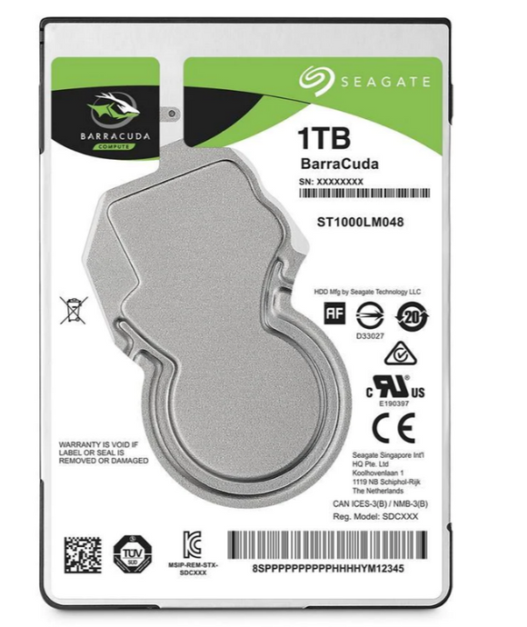Seagate Barracuda ST1000LM048 128MB 1TB (Ny) - Rebuild IT