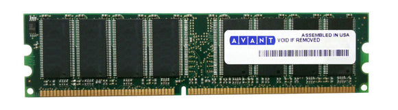 AVM6428U52C3400K9-SAGP Avant 1GB PC3200 DDR-400MHz non-ECC Unbuffered CL3 184-Pin DIMM Memory Module - Rebuild IT