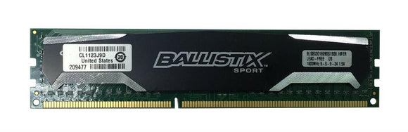 BLS8G3D1609DS1S00.16FER Crucial Ballistix 8GB PC3-12800 DDR3-1600MHz non-ECC Unbuffered CL8 (8-8-8-24) 240-Pin - Rebuild IT