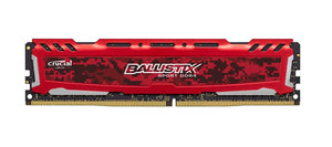 BLS8G4D240FSE Crucial Ballistix Sport LT Red 8GB PC4-19200 DDR4-2400MHz non-ECC Unbuffered CL16 (16-16-16) 288-Pin DIMM