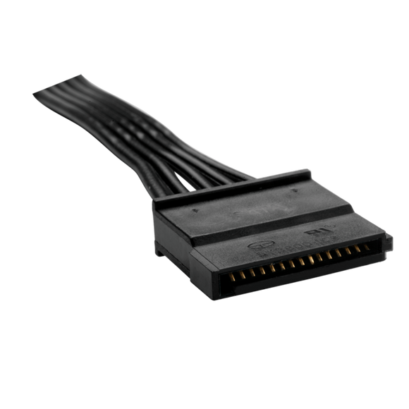 Type 4 - Flat Black Ribbon Cable SATA with 3 connectors - Rebuild IT