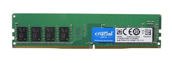 CT4G4DFS8213 Crucial 4GB PC4-17000 DDR4-2133MHz non-ECC Unbuffered CL15 288-Pin DIMM - Rebuild IT