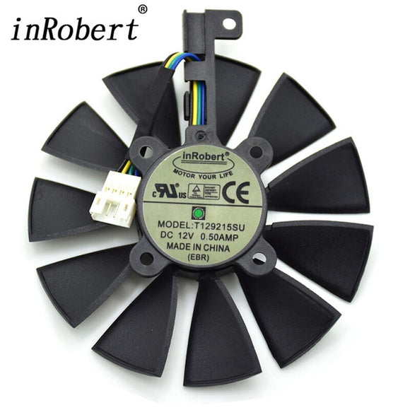 Everflow 87MM T129215SU 4Pin Cooling Fan For GTX 980 Ti R9 390X 390 GTX 1050 1060 1080 1070 RX 480 470 Graphics Card Cooler Fans