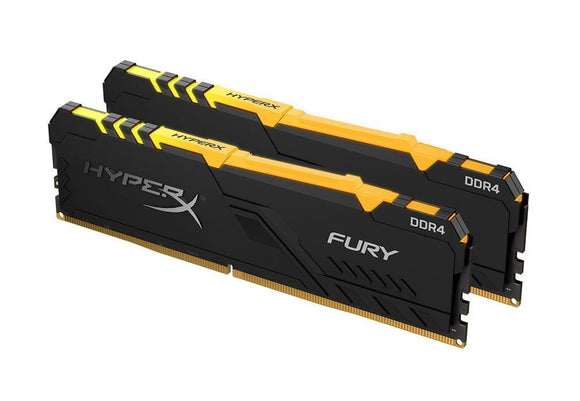 HX432C16FB3AK2/32 Kingston HyperX FURY Black 32GB Kit (2 x 16GB) PC4-25600 DDR4-3200MHz non-ECC Unbuffered CL16 288-Pin DIMM