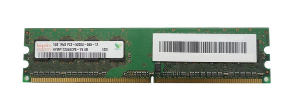 HYMP112U64CP8-Y5-AB Hynix 1GB PC2-5300 DDR2-667MHz non-ECC Unbuffered CL5 240-Pin DIMM - Rebuild IT