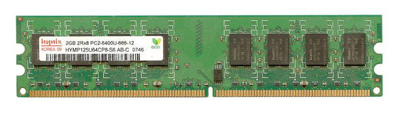 HYMP125U64CP8-S6 AB Hynix 2GB PC2-6400 DDR2-800MHz non-ECC Unbuffered CL5 240-Pin DIMM - Rebuild IT