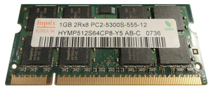 HYMP512S64CP8-Y5-AB-C Hynix 1GB PC2-5300 DDR2-667MHz non-ECC Unbuffered CL5 200-Pin SODIMM - Rebuild IT
