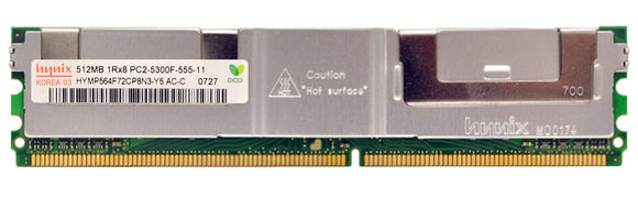 HYMP564F72CP8N3-Y5AC-C Hynix 512MB PC2-5300 DDR2-667MHz ECC Fully Buffered CL5 240-Pin - Rebuild IT