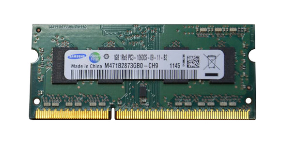 M471B2873GB0-CH9 Samsung 1GB PC3-10600 DDR3-1333MHz non-ECC Unbuffered CL9 204-Pin SoDimm - Rebuild IT